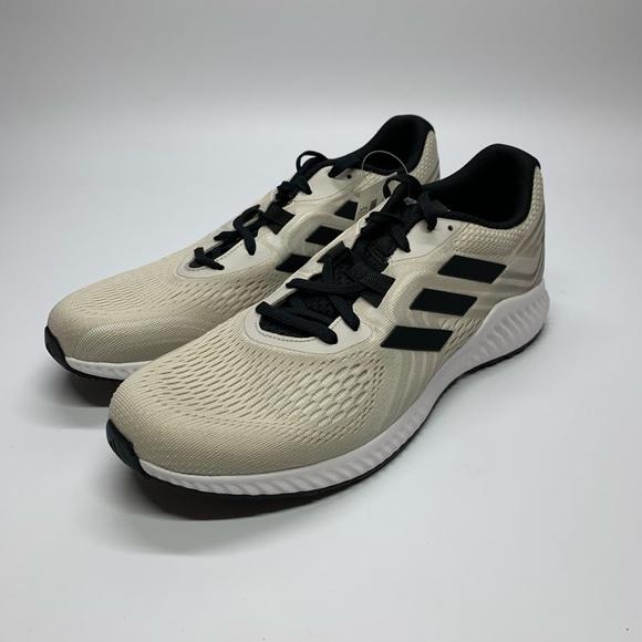 Men's Adidas Aerobounce 2 Tan/Black Running Shoes